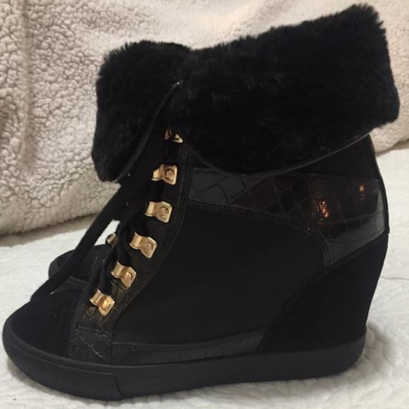 ecc1680ea2f566 Aldo Shoes - New Aldo  Crock Effect  Wedge Sneakers